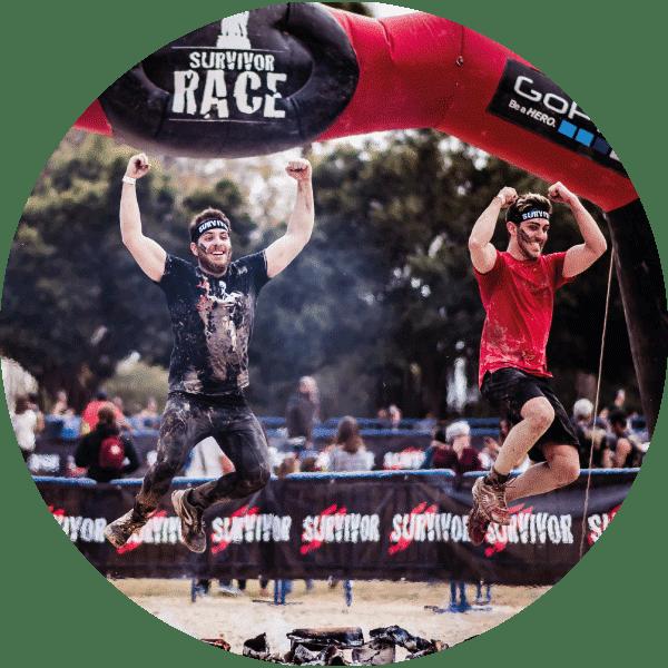 obstaculos survivor race fuego